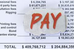 Pay your bills Royalty Free Stock Photo