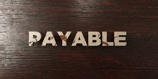 Payable - grungy wooden headline on Maple  - 3D rendered royalty free stock image Royalty Free Stock Photos
