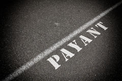 Payant στο δρόμο ασφάλτου Στοκ Εικόνα