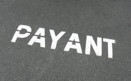 payant tecken för fransk parkering Royaltyfri Bild
