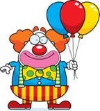Payaso Balloons de la historieta Imagenes de archivo