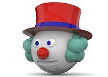 Payaso Character - 3D Fotografía de archivo libre de regalías