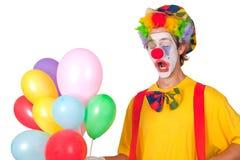 Payaso colorido con los globos Fotos de archivo libres de regalías