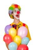 Payaso colorido con los globos Foto de archivo