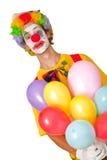 Payaso colorido con los globos Fotografía de archivo libre de regalías