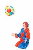 Payaso con la bola Foto de archivo