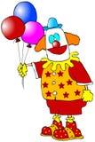 Payaso con los globos Imagen de archivo libre de regalías