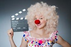 Payaso con película fotografía de archivo libre de regalías
