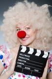 Payaso con película Foto de archivo libre de regalías