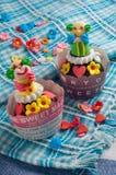 Payaso Cupcake Imagen de archivo