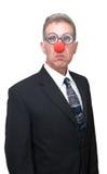 Payaso del asunto - hombre de negocios chistoso Imágenes de archivo libres de regalías