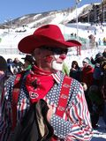 Payaso del rodeo en el 40.o vaquero anual Downhill fotos de archivo