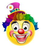 Payaso Emoji Emoticon stock de ilustración