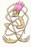 Payaso en rayas Carácter divertido, usted puede utilizar en la ropa y las publicaciones para los niños libre illustration