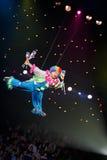 Payaso en un circo Fotos de archivo libres de regalías