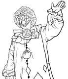 Payaso feliz Waving stock de ilustración