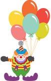 Payaso Holding Balloons stock de ilustración