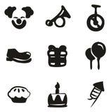 Payaso Icons Freehand Fill Fotografía de archivo libre de regalías
