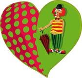 Payaso y un corazón ilustración del vector