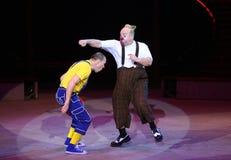 Payasos de circo Fotos de archivo libres de regalías