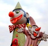 Payasos italianos del carnaval Foto de archivo libre de regalías