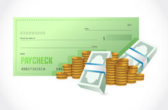 paycheck and money illustration design Stock Photo