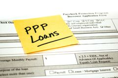 Free Paycheck Protection Program Application And Reminder Note Stock Photography - 179066222