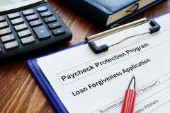 Free Paycheck Protection Program Ppp Loan For Small Business Forgiveness Application. Stock Photos - 186588373