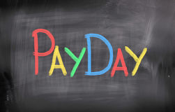 Payday έννοια Στοκ εικόνες με δικαίωμα ελεύθερης χρήσης