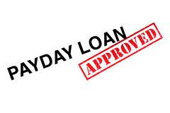 Payday δάνειο εγκεκριμένο στοκ εικόνα με δικαίωμα ελεύθερης χρήσης