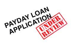 Payday εφαρμογή δανείου στοκ φωτογραφίες