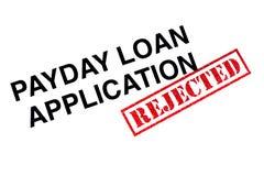 Payday εφαρμογή δανείου στοκ εικόνα με δικαίωμα ελεύθερης χρήσης
