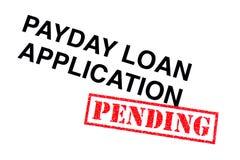 Payday εφαρμογή δανείου στοκ φωτογραφία
