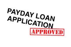 Payday εφαρμογή δανείου στοκ εικόνες