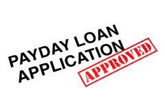 Payday εφαρμογή δανείου στοκ εικόνα