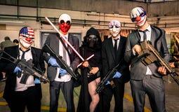 ` Payday ` και ` Star Wars ` cosplay Στοκ εικόνες με δικαίωμα ελεύθερης χρήσης