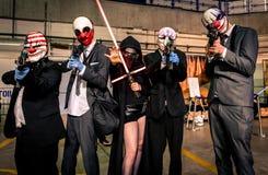 ` Payday ` και ` Star Wars ` cosplay Στοκ εικόνα με δικαίωμα ελεύθερης χρήσης