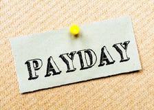 Payday μήνυμα στοκ εικόνα