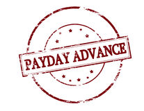Payday advance. Rubber stamp with text payday advance inside,  illustration Royalty Free Stock Images