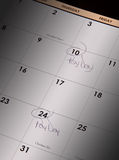 Payday calendar Royalty Free Stock Images