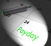 Payday Calendar Displays Salary Or Wages For Employment Royalty Free Stock Photo