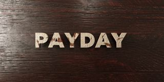 Payday - grungy wooden headline on Maple  - 3D rendered royalty free stock image. This image can be used for an online website banner ad or a print postcard Royalty Free Stock Photography