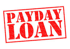 PAYDAY LOAN. Red Rubber Stamp over a white background stock photo