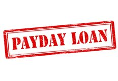 Payday loan. Rubber stamp with text be fair payday loan inside,  illustration Stock Photo