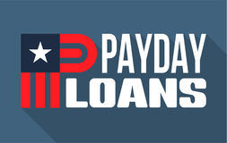 Payday loans banner. Vector illustration Royalty Free Stock Images
