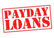 PAYDAY LOANS Stock Photo