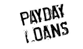Payday Loans rubber stamp. Grunge design with dust scratches. Effects can be easily removed for a clean, crisp look. Color is easily changed Stock Photo