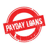 Payday Loans rubber stamp. Grunge design with dust scratches. Effects can be easily removed for a clean, crisp look. Color is easily changed Stock Photos
