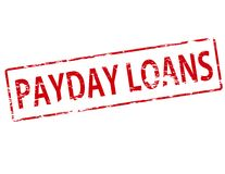 Payday loans. Rubber stamp with text payday loans inside,  illustration Royalty Free Stock Photo
