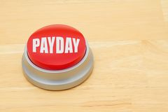 A Payday red push button Royalty Free Stock Photo